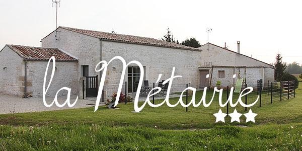 Accueil - Gîte la Métairie à Varzay en Charente-Maritime